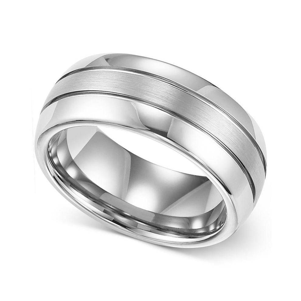 14K White Gold Wedding Band Men – Ablogjewelry Inside 8Mm White Gold Wedding Bands (View 1 of 15)