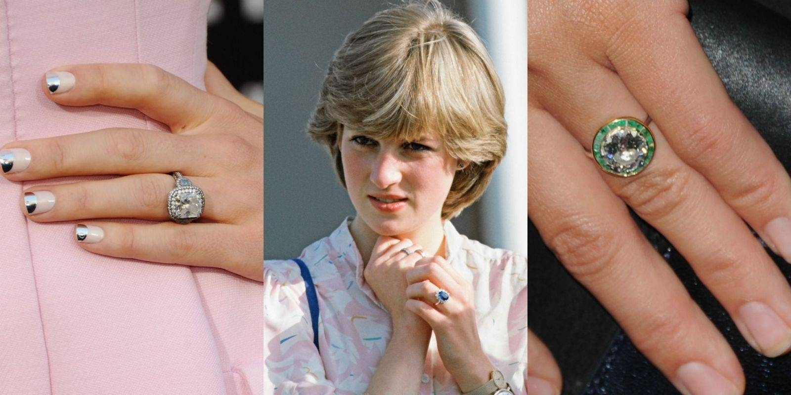 15 Biggest Celebrity Engagement Rings – Most Famous Wedding Rings Regarding Recent Diana Wedding Bands (View 1 of 15)