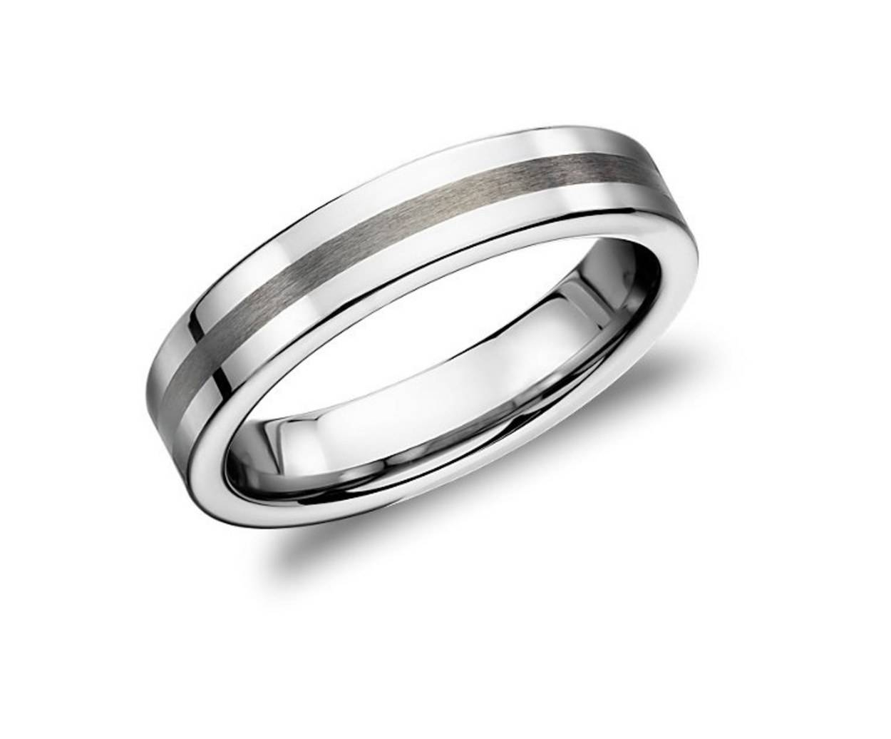 15 Men's Wedding Bands Your Groom Won't Want To Take Off | Glamour Throughout Dark Metal Mens Wedding Bands (View 1 of 15)