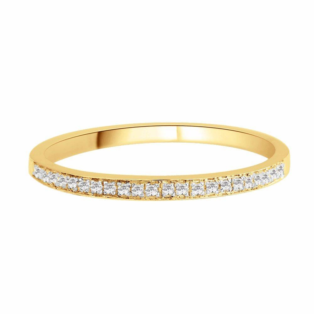 18 Carat Yellow Gold Wedding Band  (View 7 of 16)