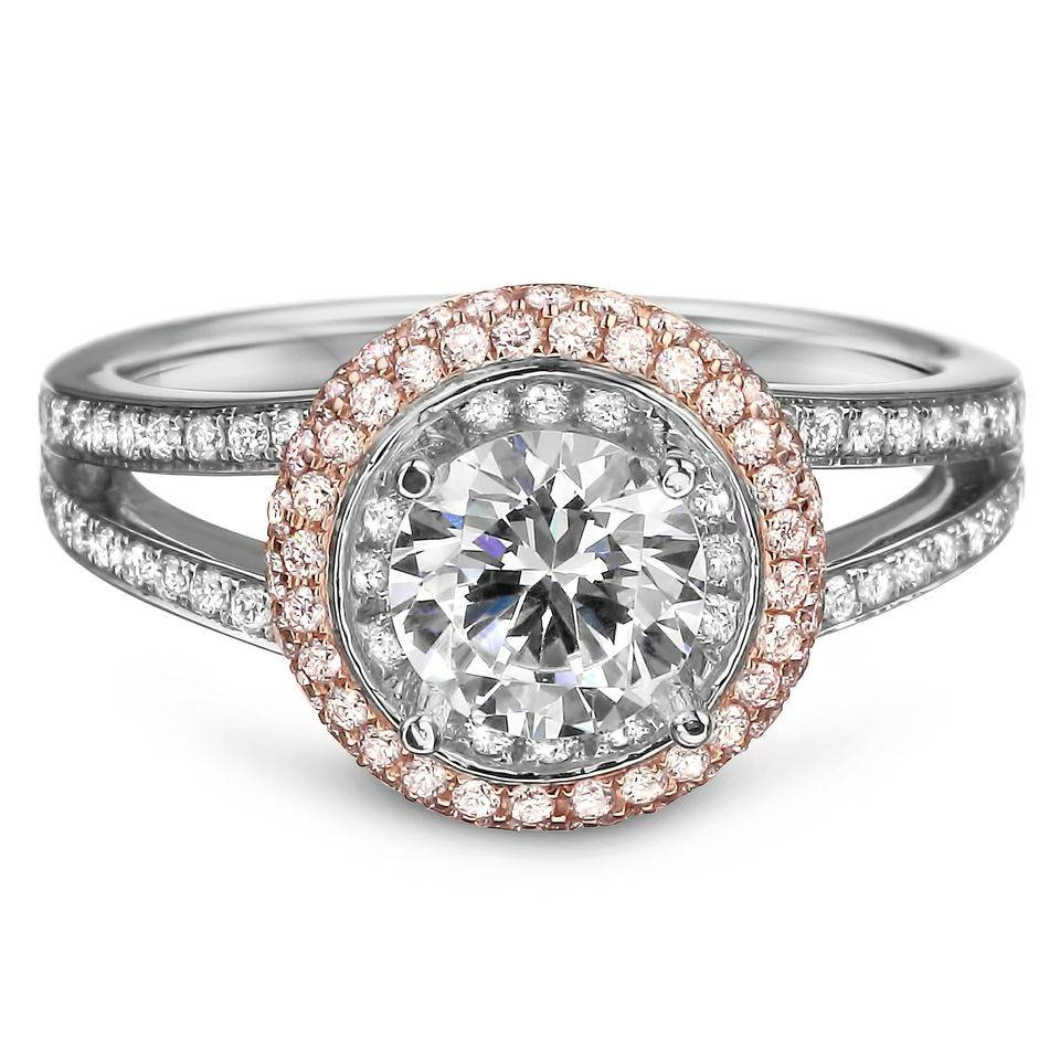 18 White And Rose Gold Natural Pink Diamond Engagement Ring With Inside Pink Diamond White Gold Engagement Rings (View 5 of 15)