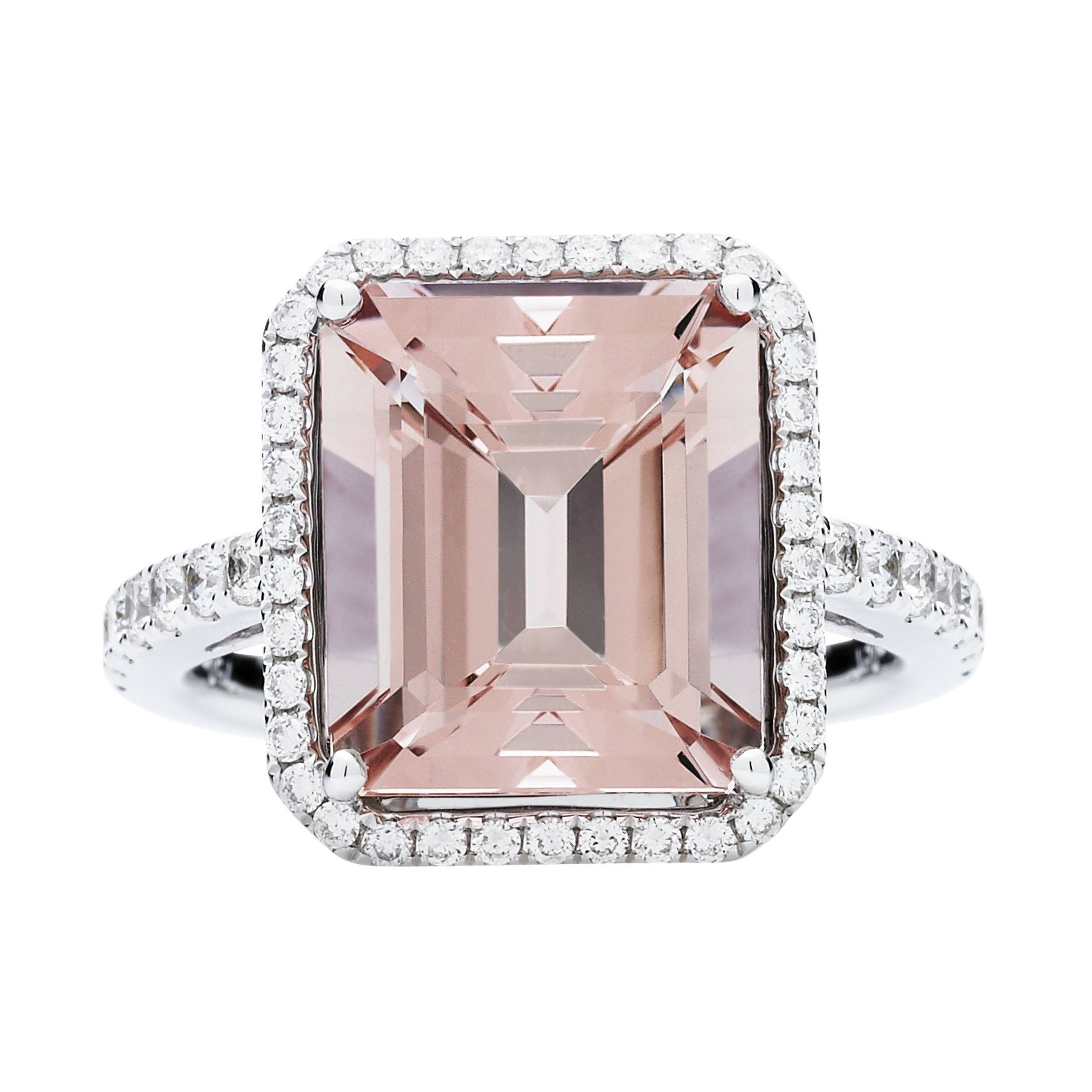 18Ct Pink Morganite & Diamond Rochester Ring |Jan Logan Fine Jewellery Inside Rochester Engagement Rings (Gallery 1 of 15)