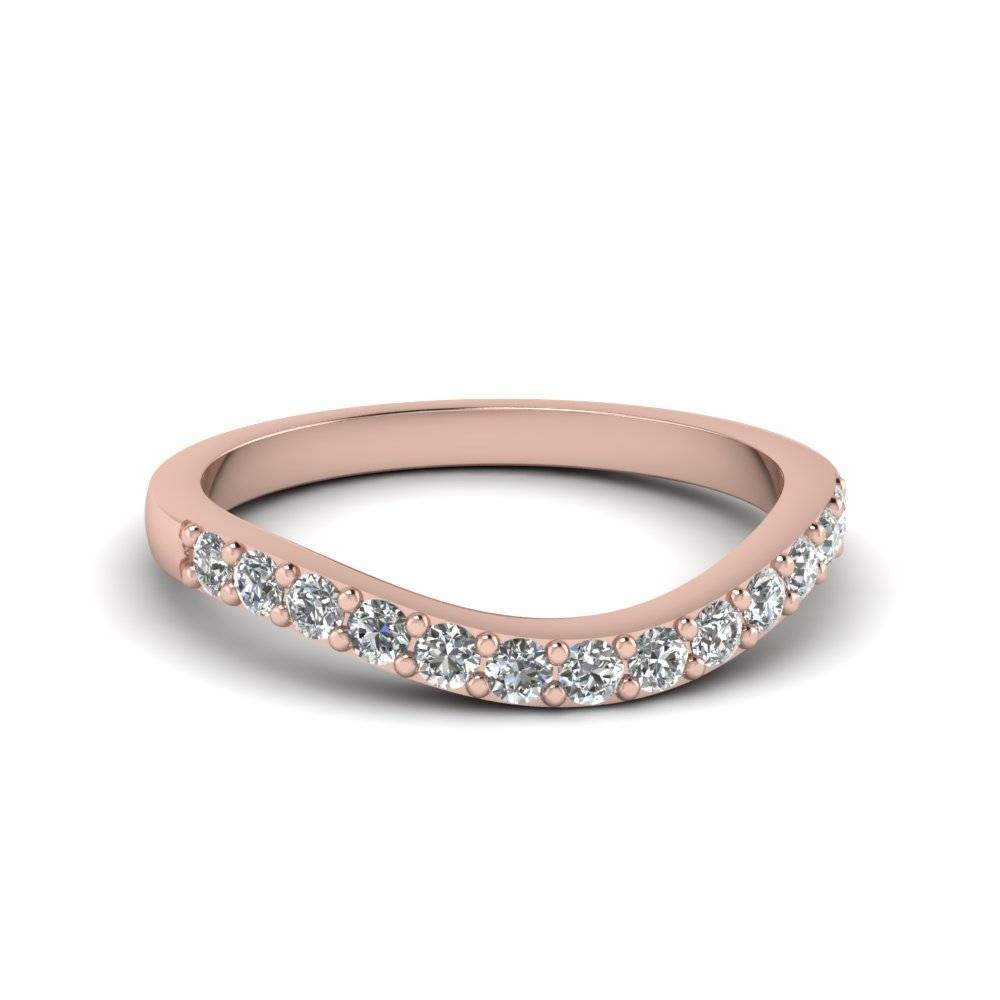 18K Rose Gold Wedding Bands For Women | Fascinating Diamonds Throughout Rose Gold Womens Wedding Bands (View 5 of 15)