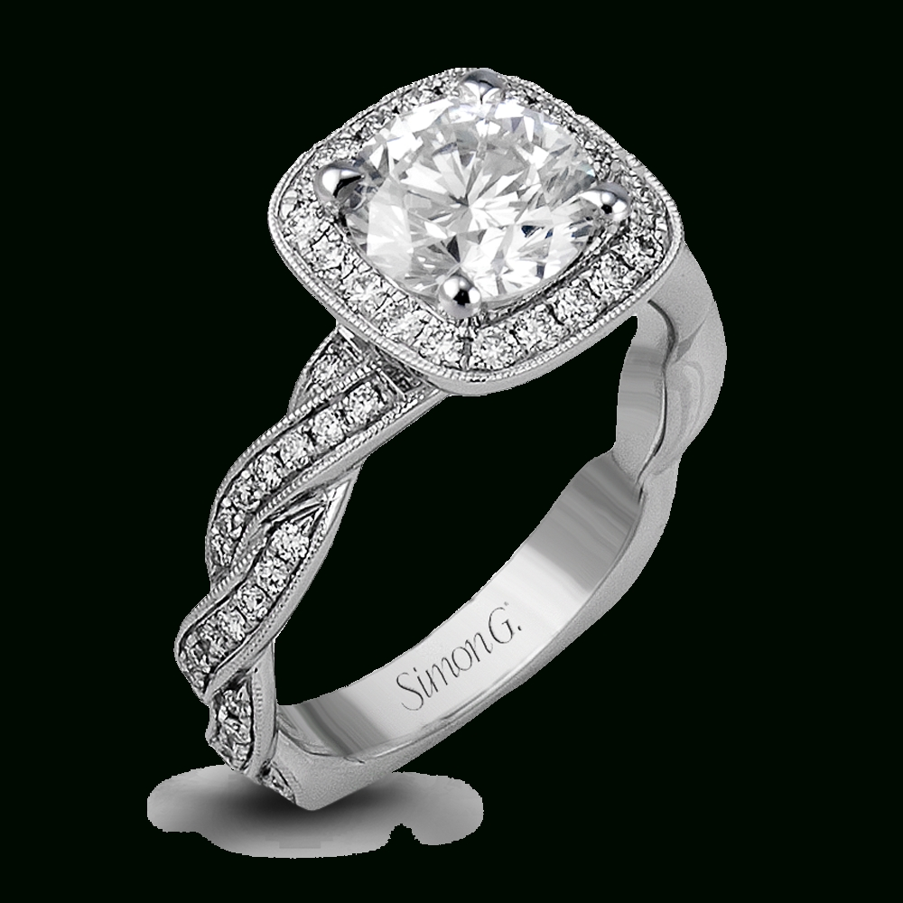 18k White Gold Twisted Diamond Band Engagement Ring – Fabled Within Custom Diamond Engagement Rings (View 13 of 15)