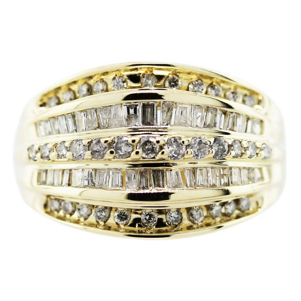 18k Yellow Gold Mens Diamond Ring – Raymond Lee Jewelers Pertaining To Mens Yellow Gold Diamond Wedding Bands (View 11 of 15)