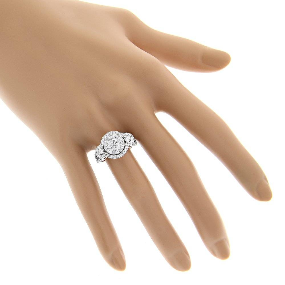 diamond gallery in throughout rings youtube carat karat cushion attachment ring cut rose of viewing engagement gold wedding photo
