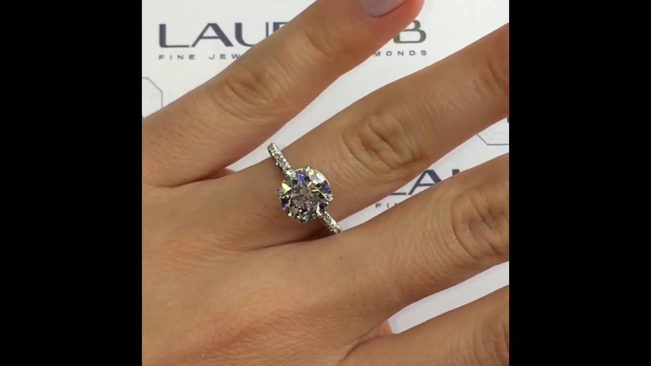 2 Carat Round Diamond Engagement Ring – Youtube Intended For 2 Ct Wedding Rings (Gallery 15 of 15)
