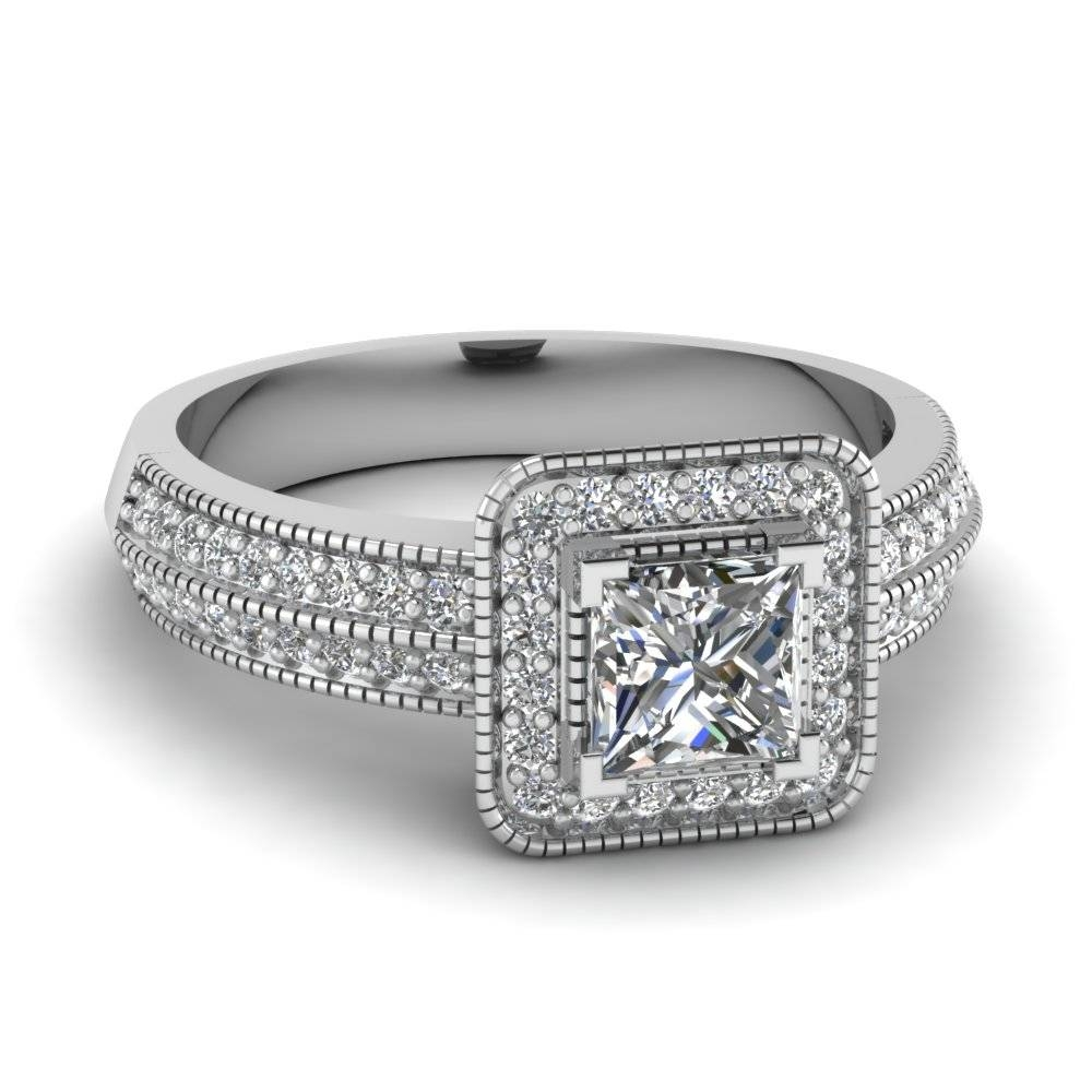 20 Styles Of Square Engagement Rings That One Can Never Resist Throughout Vintage Halo Engagement Ring Settings (View 10 of 15)