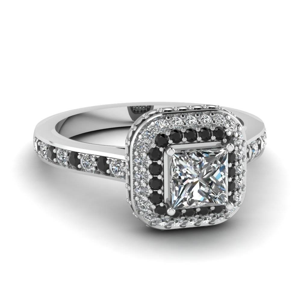 20 Styles Of Square Engagement Rings That One Can Never Resist With Regard To Square Double Halo Engagement Rings (View 2 of 15)