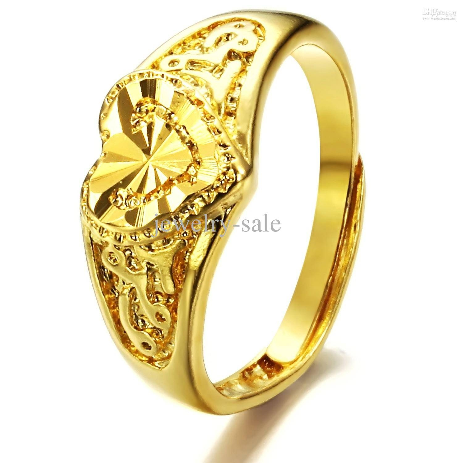 2017 Hot Sale Plating 18K Yellow Gold Rings Adjustable Wedding With Gold Wedding Rings For Women (Gallery 3 of 15)