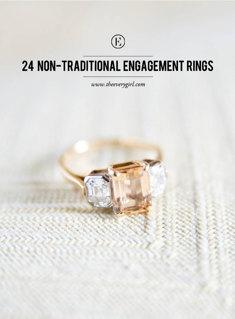 24 Non Traditional Engagement Rings – The Everygirl Within Nontraditional Engagement Rings (Gallery 1 of 15)