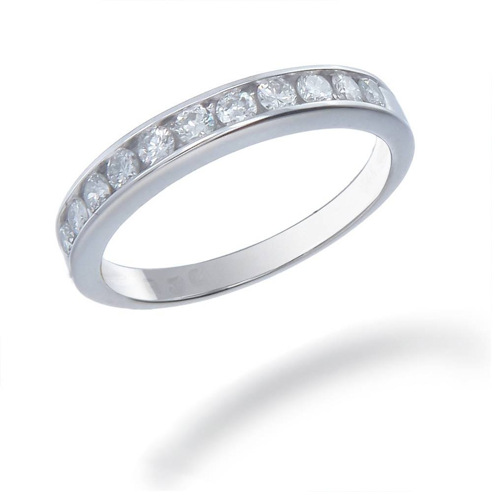 25 Tcw Women's Diamond Wedding Band Set In 14K White Gold Intended For Best And Newest Silver Womens Wedding Bands (Gallery 1 of 15)