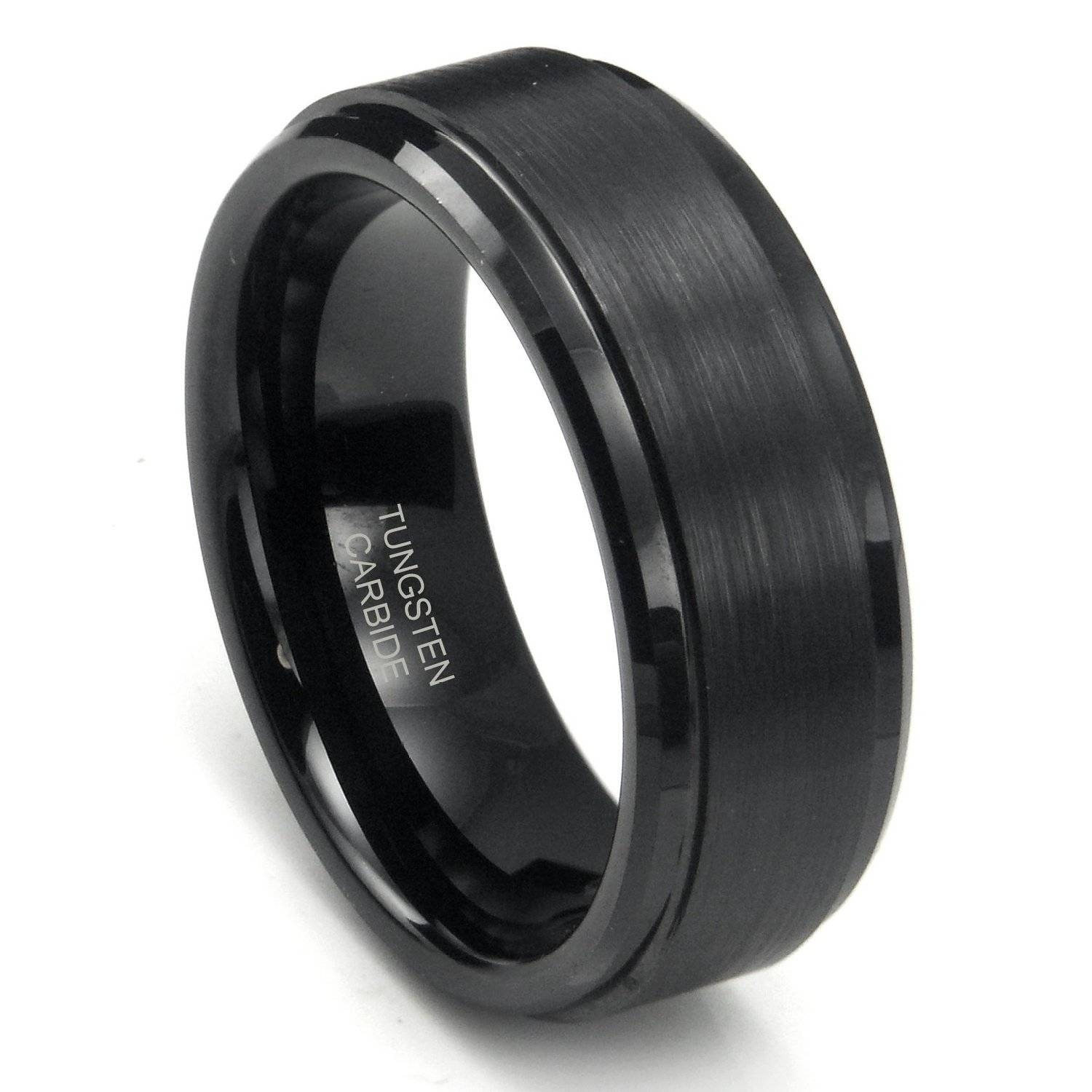 27 Black Men's Wedding Bands Ideas Pertaining To Dark Metal Mens Wedding Bands (View 2 of 15)