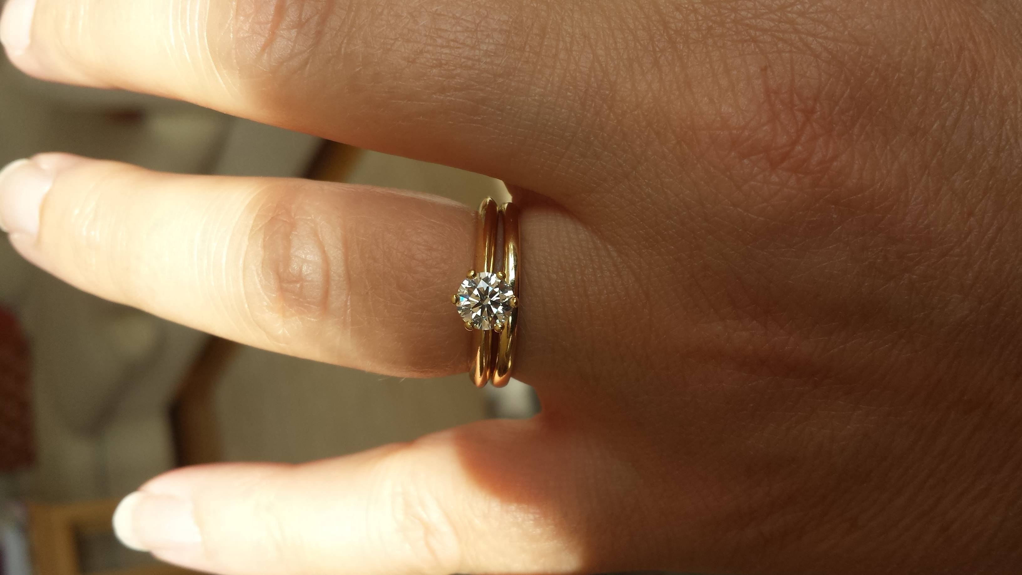 3/4 Carat Too Small? Pictures Please – Weddingbee In Small Size Engagement Rings (View 5 of 15)
