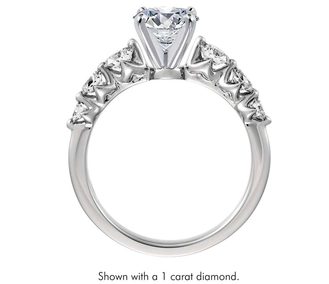 3/4 Ct. Tw. Floating Diamond Engagement Ring In Platinum – Shop Intended For Floating Diamond Engagement Rings (Gallery 7 of 15)