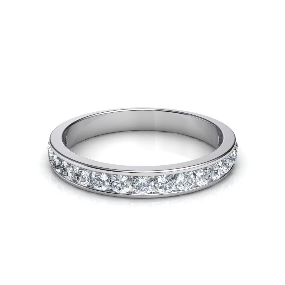 3.5Mm 0.53 Ct Channel Set Round Cut Diamond Wedding Band Intended For Latest Diamonds Wedding Bands (Gallery 5 of 15)