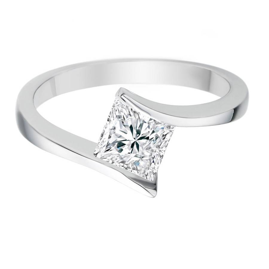 3 Diamond Princess Cut Engagement Rings Tags : Princess Cut In Simple Princess Cut Diamond Engagement Rings (View 8 of 15)
