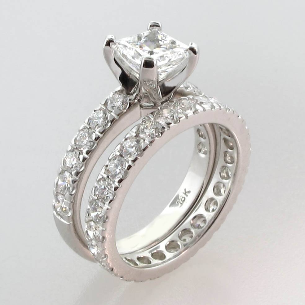 3 Stone Princess Cut Wedding Sets Tags : Diy Wedding Ring Cheap Intended For 2017 Princess Cut Engagement Rings And Wedding Bands (View 6 of 15)