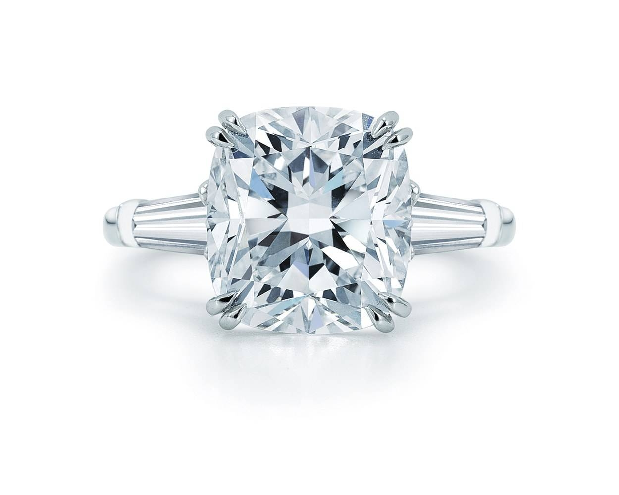 30 Diamond Engagement Rings So Sparkly You'll Need Sunglasses In Round Cushion Cut Diamond Engagement Rings (View 14 of 15)