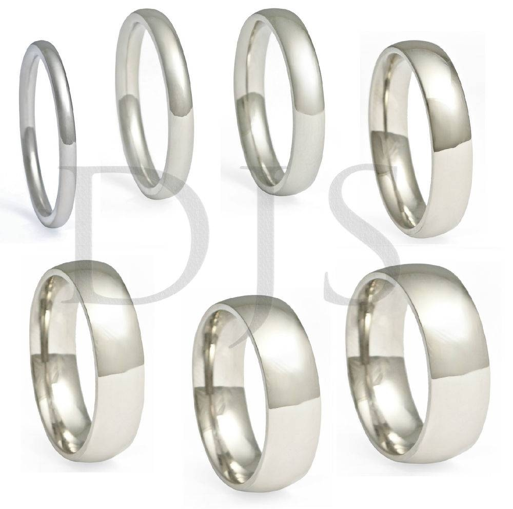 316L Stainless Steel Ring Plain Wedding Band Men & Women | Ebay For Most Current Womens Plain Wedding Bands (View 2 of 15)