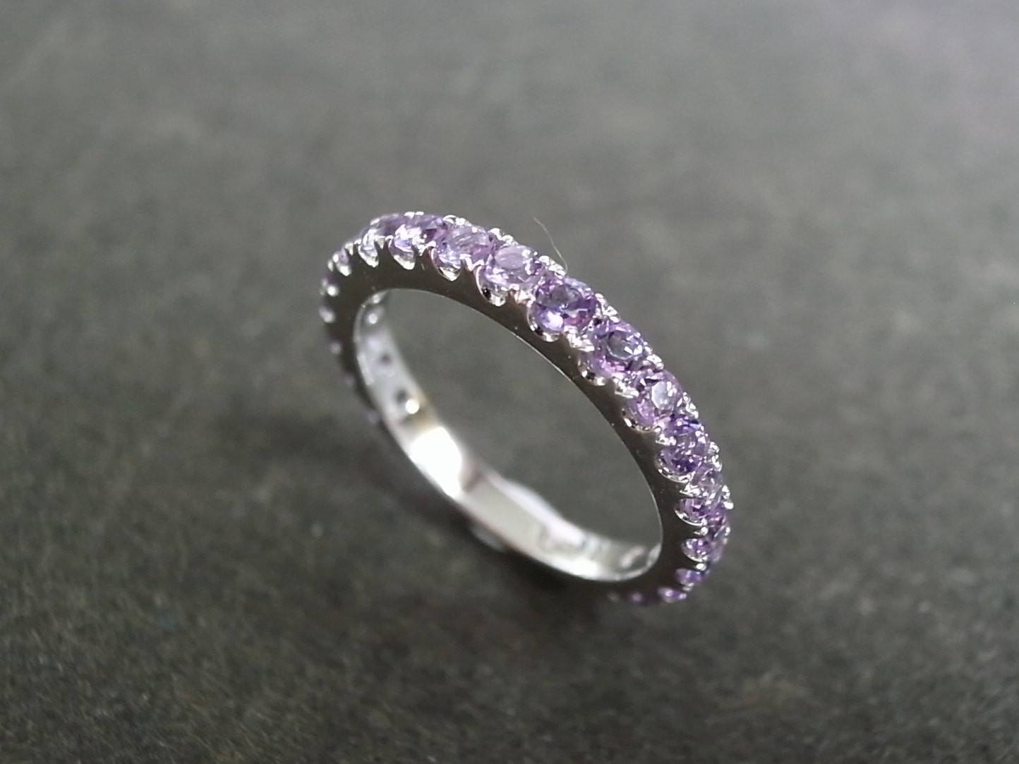 33 Most Wanted Stunning Amethyst Wedding Rings | Eternity Jewelry Inside Wedding Rings With Amethyst (View 11 of 15)