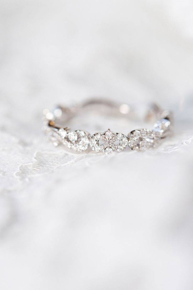 437 Best Unique Wedding Bands For Women Images On Pinterest Inside Delicate Diamond Wedding Bands (Gallery 14 of 15)