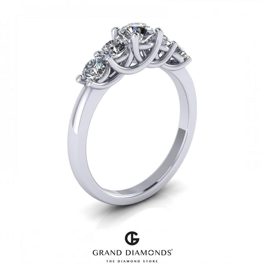 5 Stone Diamond Rings Regarding 5 Diamond Engagement Rings (View 8 of 15)