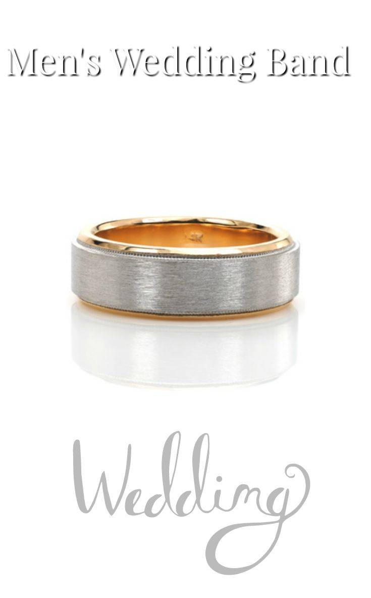50 Best Men's Wedding Band Collection Images On Pinterest Inside Denver Wedding Bands (View 14 of 15)