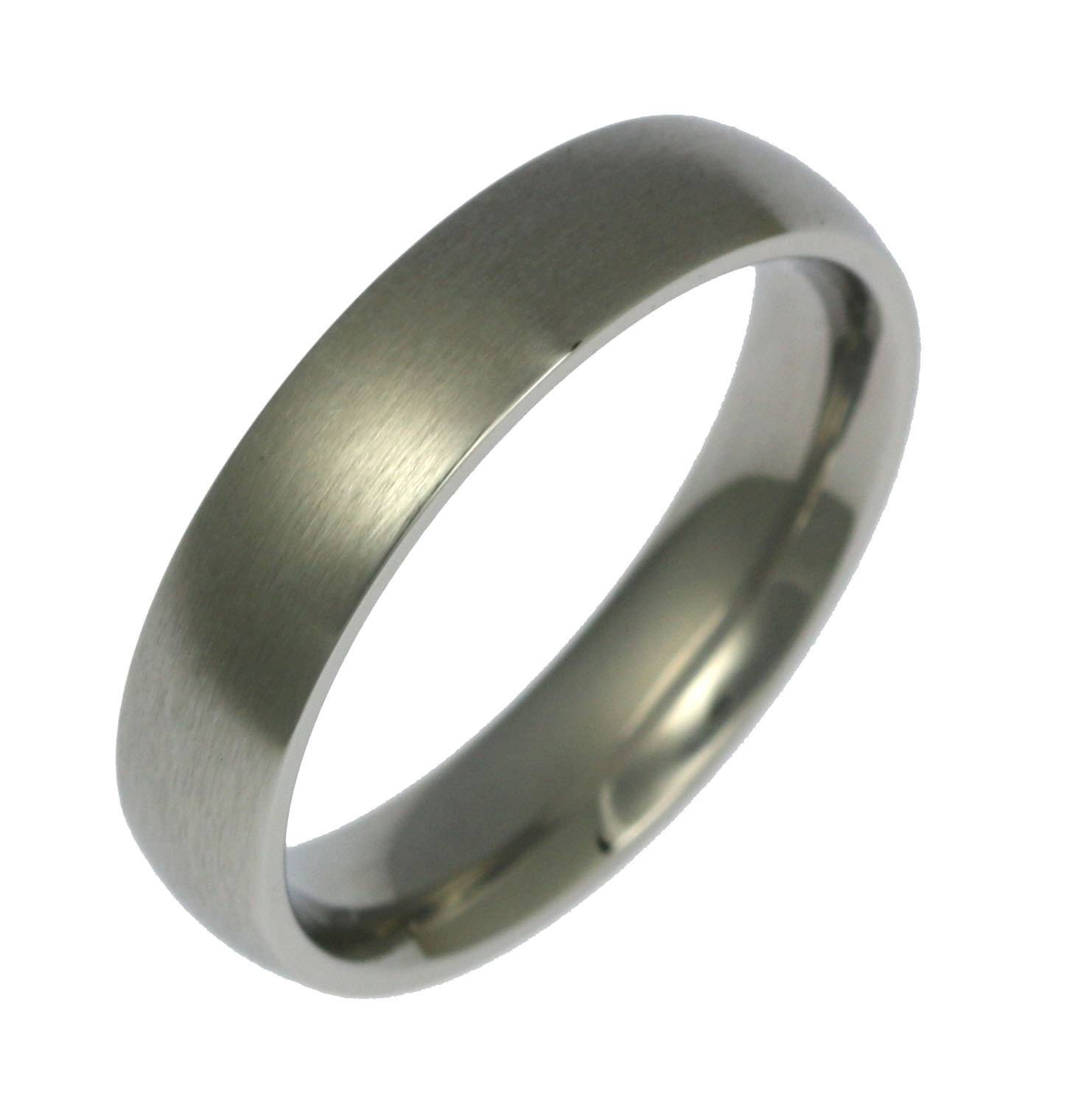 5Mm Brushed Stainless Steel Mens Comfort Fit Wedding Band Inside Mens Wedding Bands Comfort Fit (Gallery 14 of 15)
