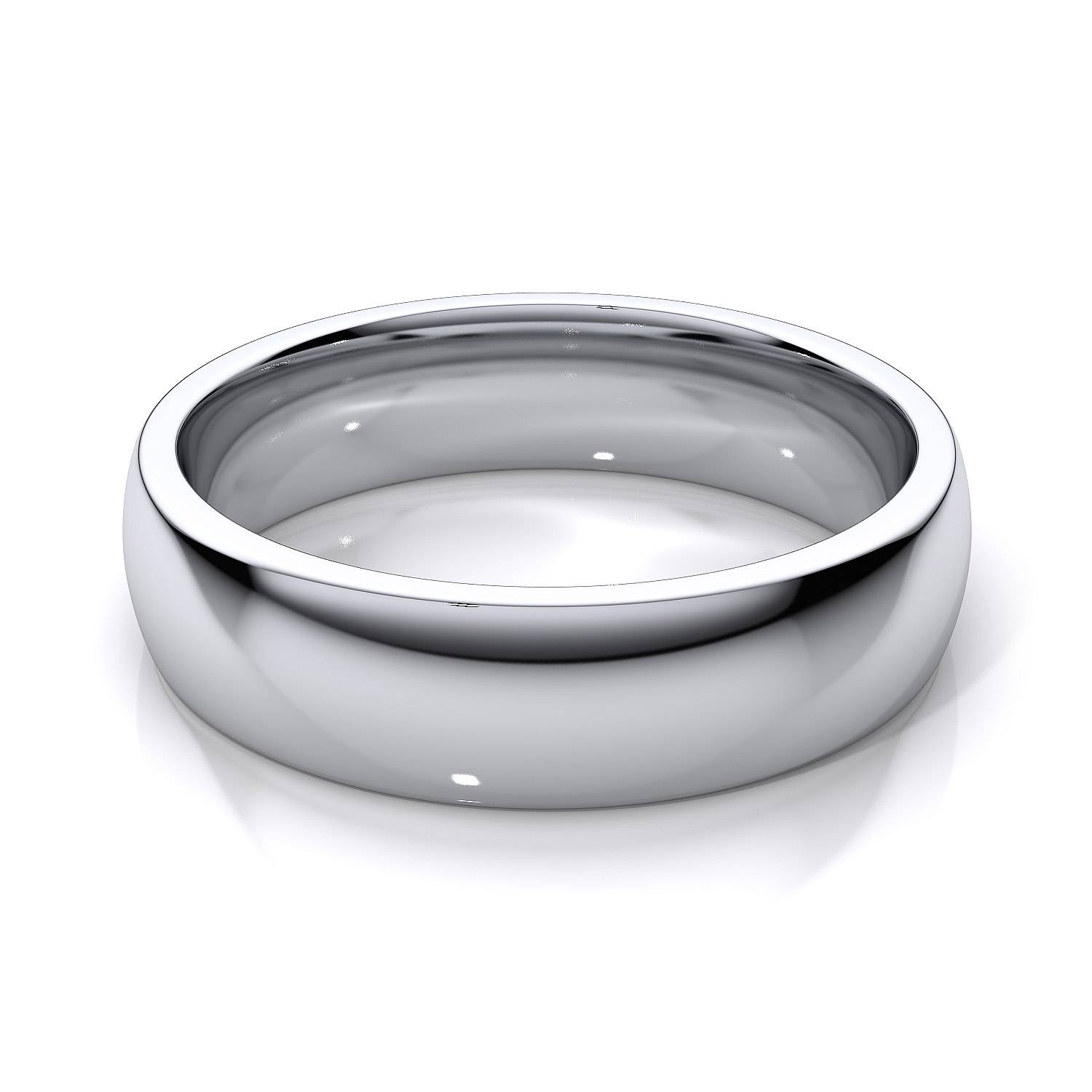 5Mm Comfort Fit Mens Plain Wedding Band In 14K White Gold With Regard To Newest Men White Gold Wedding Band (View 1 of 15)