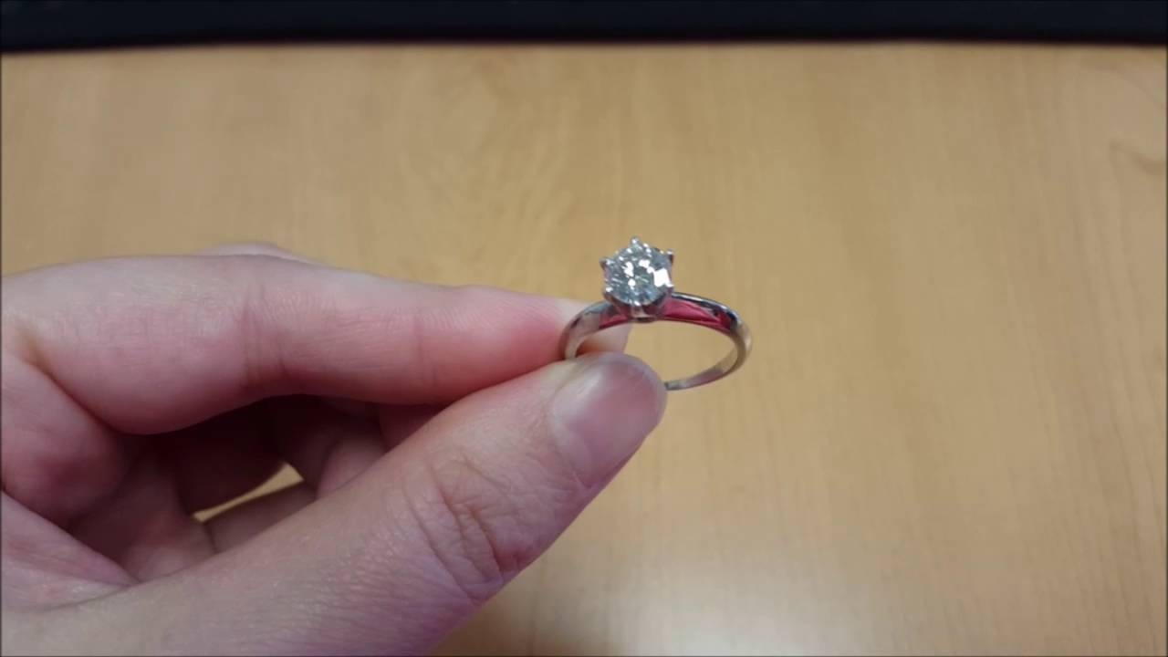 6 Prong Classic Engagement Ring With Eco Diamond Center – Youtube Throughout Eco Diamond Engagement Rings (View 1 of 15)