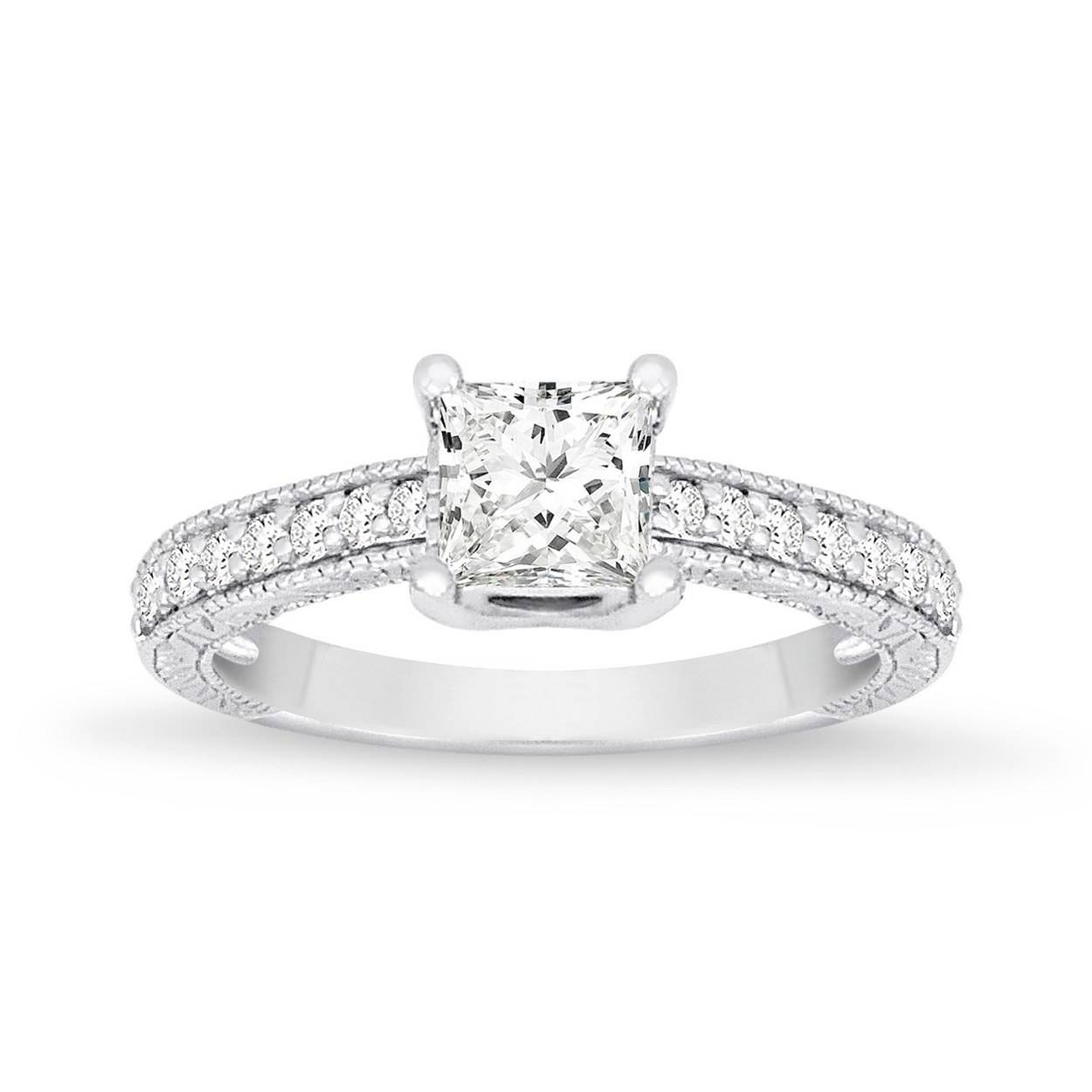 62 Diamond Engagement Rings Under $5,000 | Glamour For Simple Princess Cut Diamond Engagement Rings (View 2 of 15)