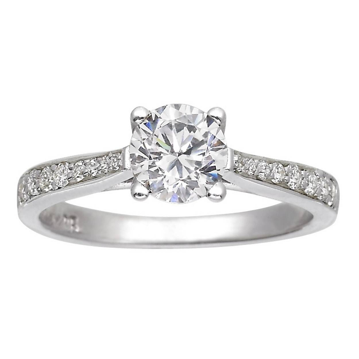 62 Diamond Engagement Rings Under $5,000 | Glamour For White Gold And Diamond Engagement Rings (View 4 of 15)