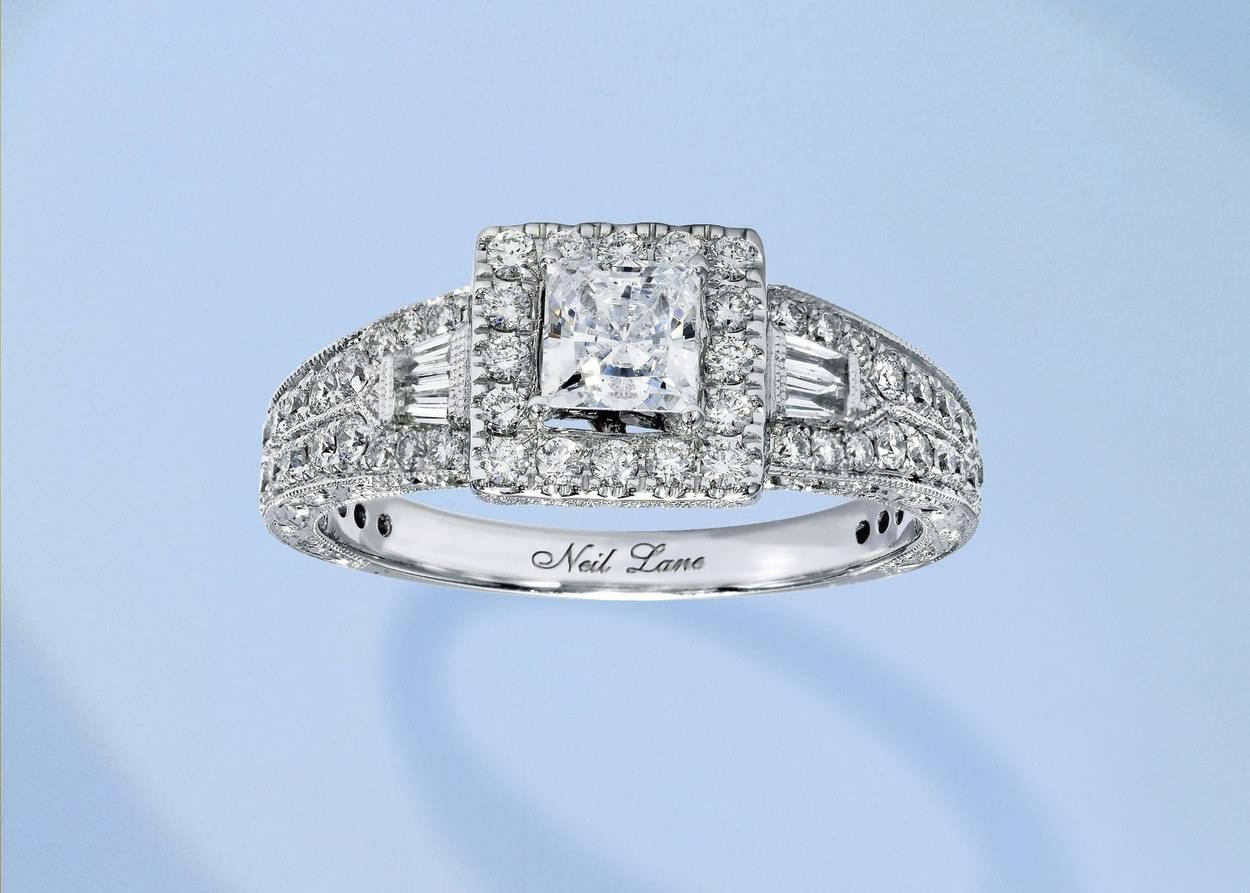 62 Diamond Engagement Rings Under $5,000 | Glamour In Emerald Cut Engagement Rings Under (View 3 of 15)