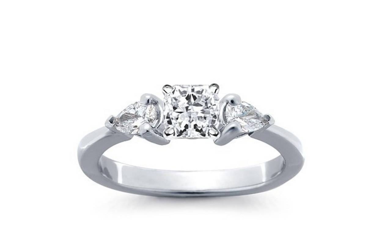 62 Diamond Engagement Rings Under $5,000 | Glamour Inside Three Stone Engagement Rings With Side Stones (View 4 of 15)