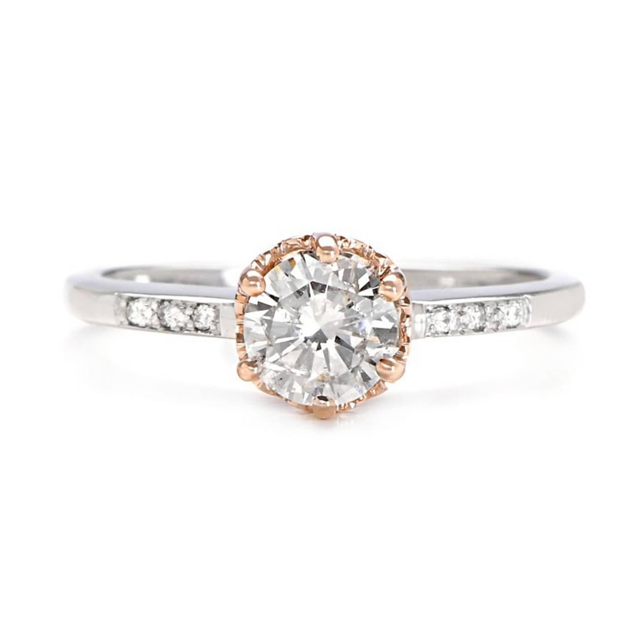 62 Diamond Engagement Rings Under $5,000 | Glamour Pertaining To Pink Diamond White Gold Engagement Rings (View 15 of 15)