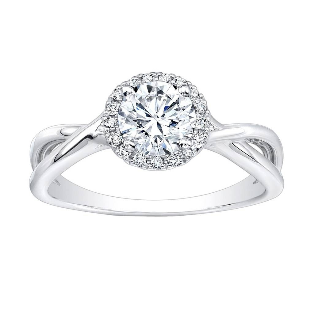 62 Diamond Engagement Rings Under $5,000 | Glamour Regarding Round Cushion Cut Diamond Engagement Rings (View 3 of 15)