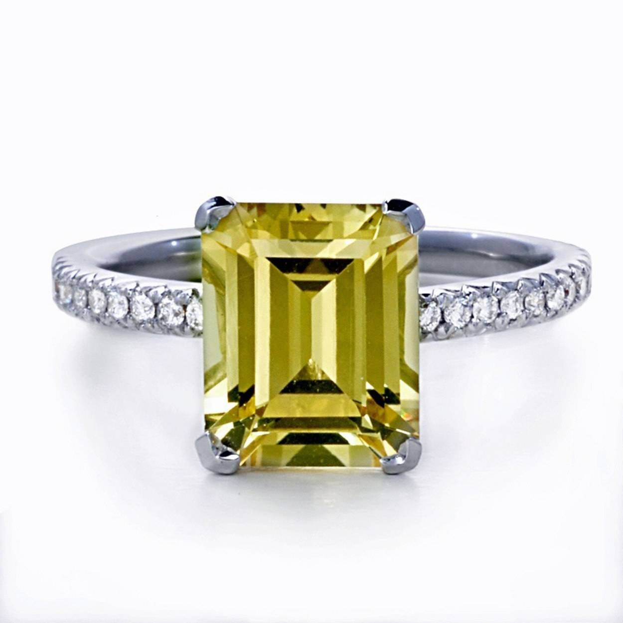 62 Diamond Engagement Rings Under $5,000 | Glamour Within Emerald Cut Engagement Rings Under (View 11 of 15)