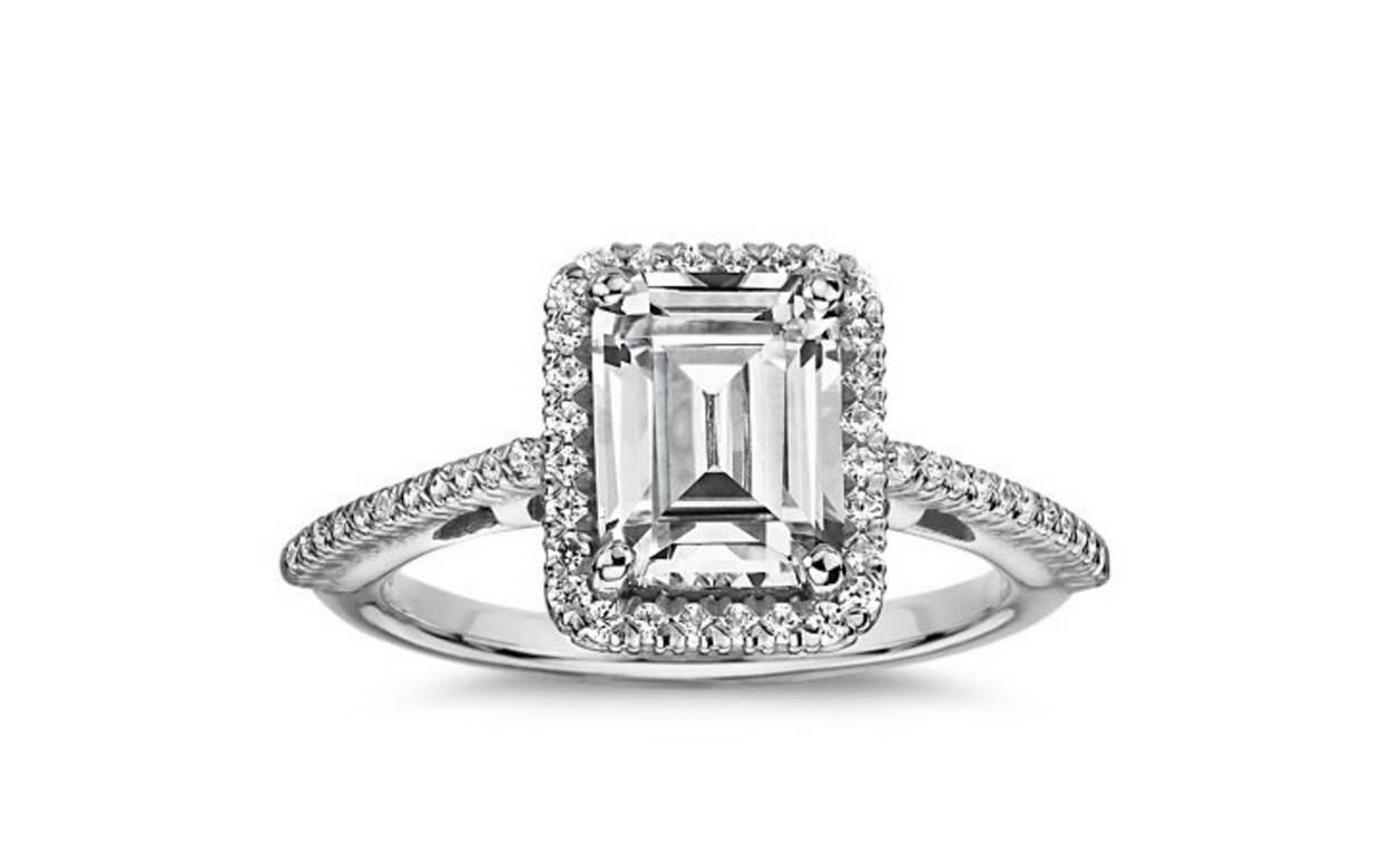 62 Diamond Engagement Rings Under $5,000 | Glamour Within Emerald Cut Engagement Rings Under (View 1 of 15)
