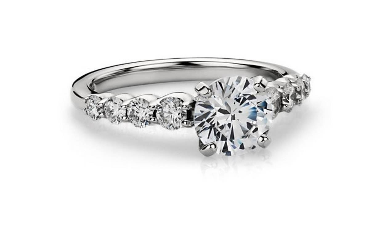 62 Diamond Engagement Rings Under $5,000 | Glamour Within Side Stone Engagement Rings (View 2 of 15)