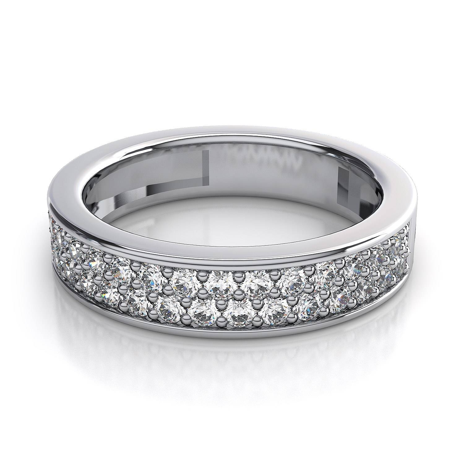 65 Carat Women's Rings Pave Diamond Wedding Ring In Platinum Pertaining To Womens Platinum Wedding Rings (View 4 of 15)