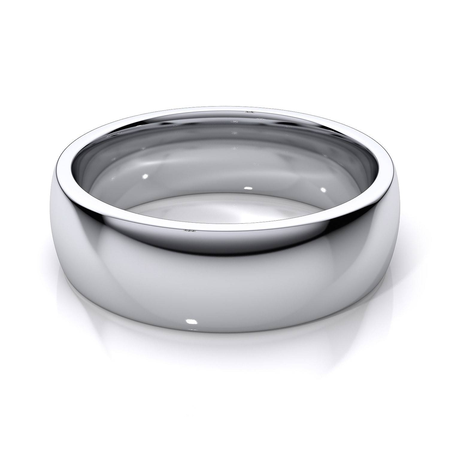 6Mm Comfort Fit Mens Plain Wedding Band In 14K White Gold With White Gold Wedding Bands For Men (View 3 of 15)