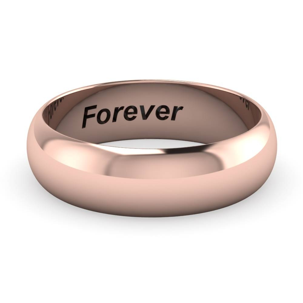 6Mm Engravable Wedding Band For Men In 14K Rose Gold | Fascinating Pertaining To Most Current Rose Gold Platinum Wedding Bands (View 3 of 15)