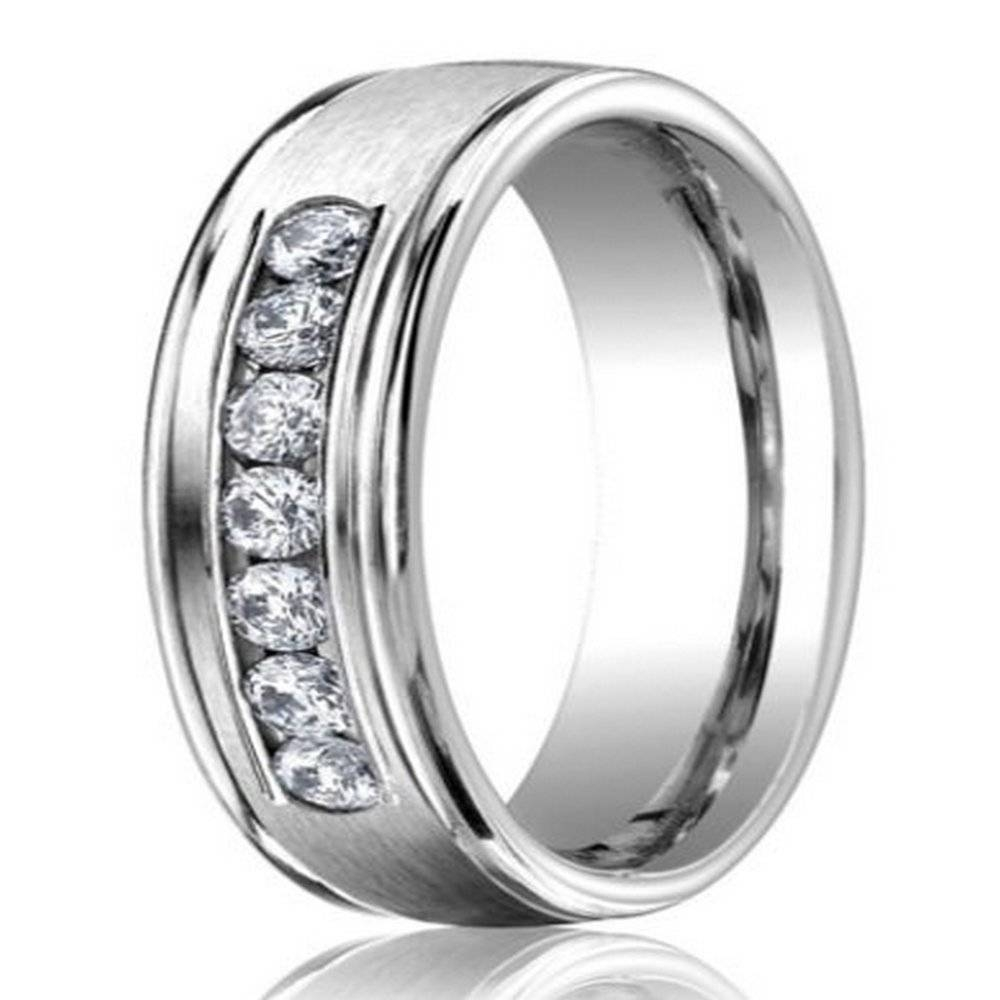 6Mm Men's 950 Platinum Diamond Wedding Ring | Justmensrings In Most Recently Released Platinum Mens Wedding Bands With Diamonds (View 2 of 15)