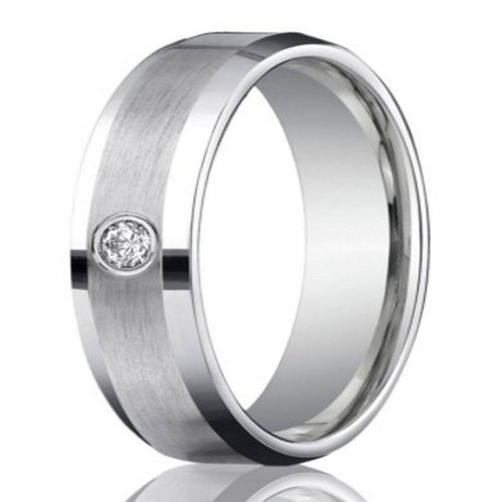 6Mm Men's 950 Platinum Single Diamond Wedding Ring | Justmensrings Regarding Male Platinum Wedding Rings (Gallery 1 of 15)