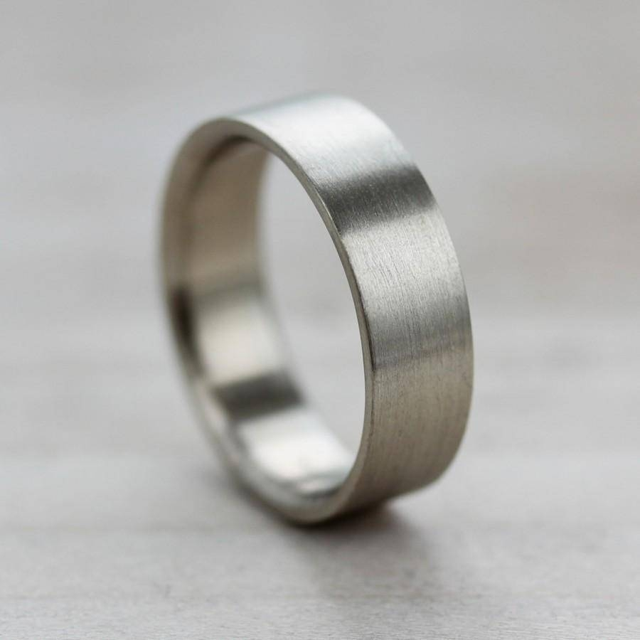 6X1.5Mm Comfort Fit Flat Men's Wedding Band – Recycled, Eco With Regard To Ethical Wedding Bands (Gallery 12 of 15)