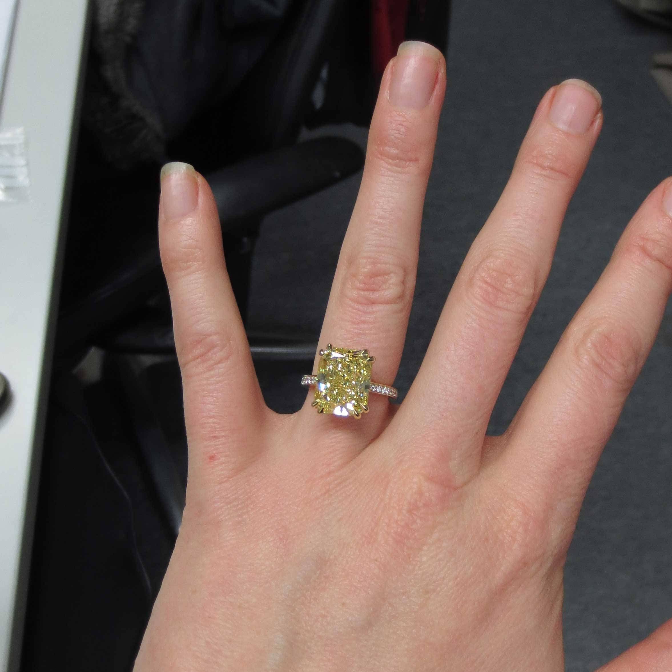 8 Carat Radiant Cut Diamond – Heirloom London With Regard To 8 Carat Diamond Engagement Rings (Gallery 3 of 15)