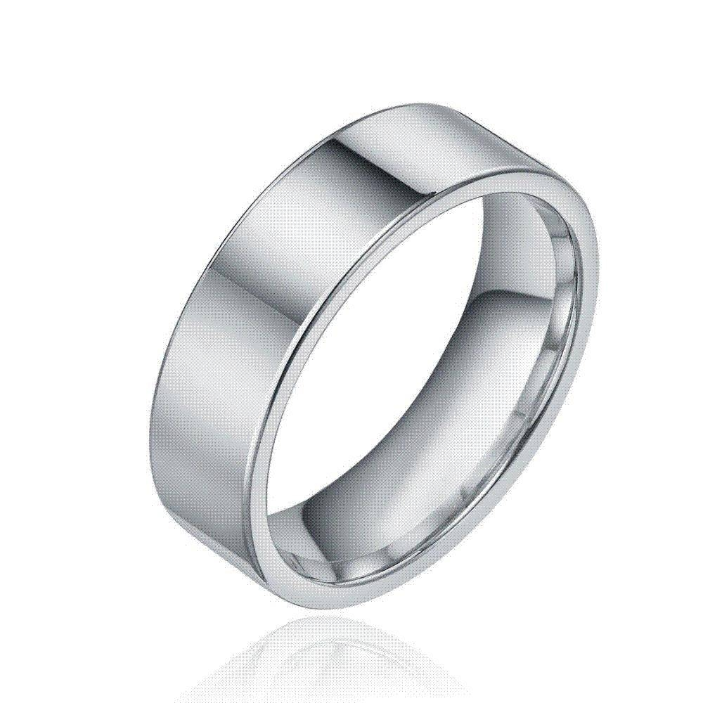 8Mm Fashion Silver Tungsten Carbide Ring Men Tungsten Wedding Throughout Plain Mens Wedding Bands (Gallery 1 of 15)