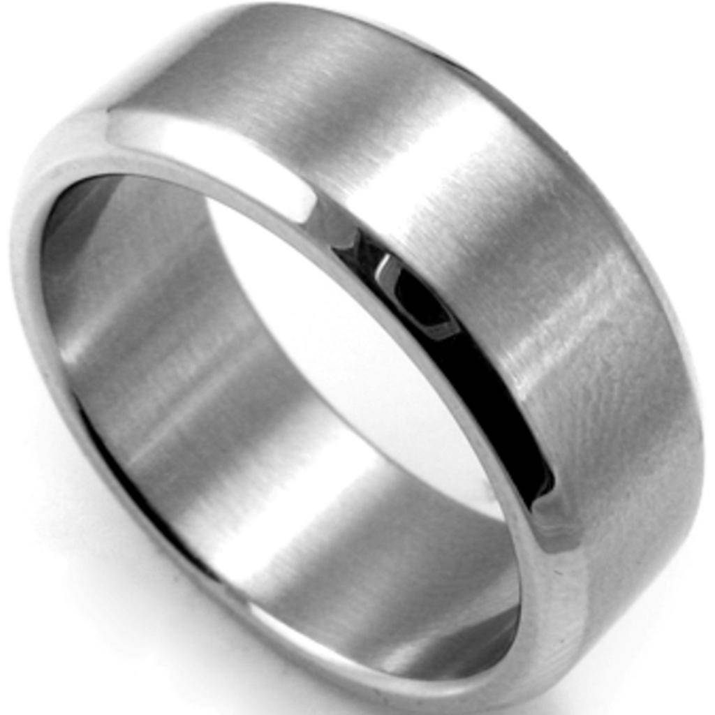 8Mm Plain Stainless Steel Ring Band Size 7 15 Silver Brushed With Most Recent Husband Wedding Bands (View 2 of 15)