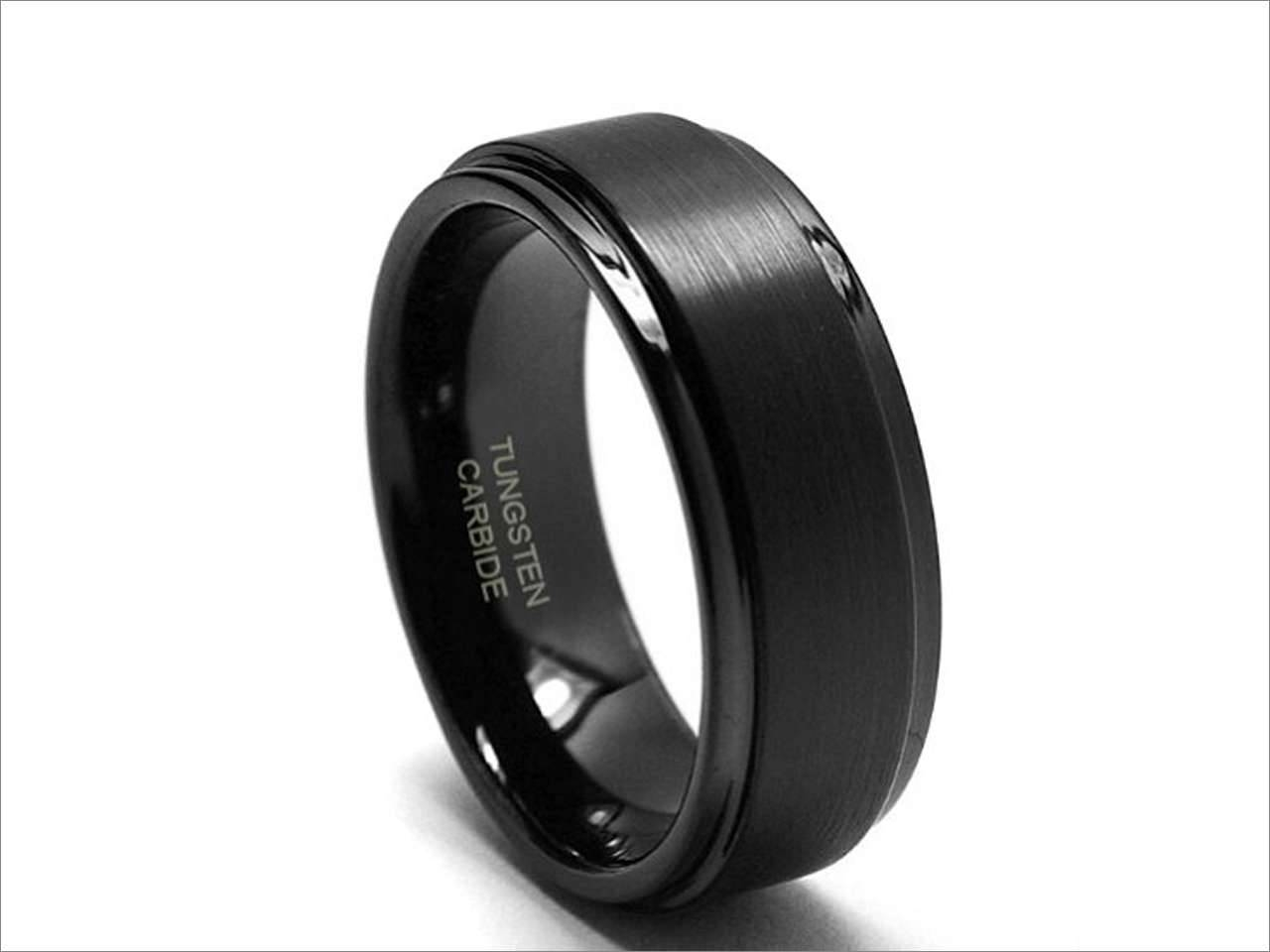 8Mm Tungsten Carbide Wedding Band Ring W/ Brushed Top (Sizes 8 15 Throughout 8Mm Tungsten Carbide Wedding Bands (View 1 of 15)